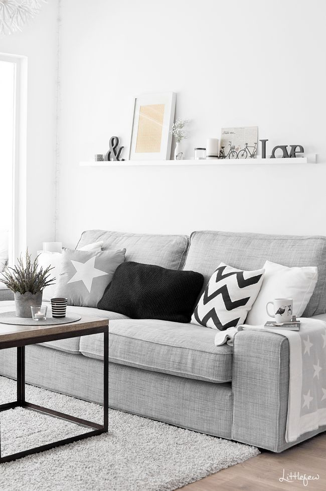 30 White Living Room Ideas: 10 Beautiful Grey And White Living Rooms