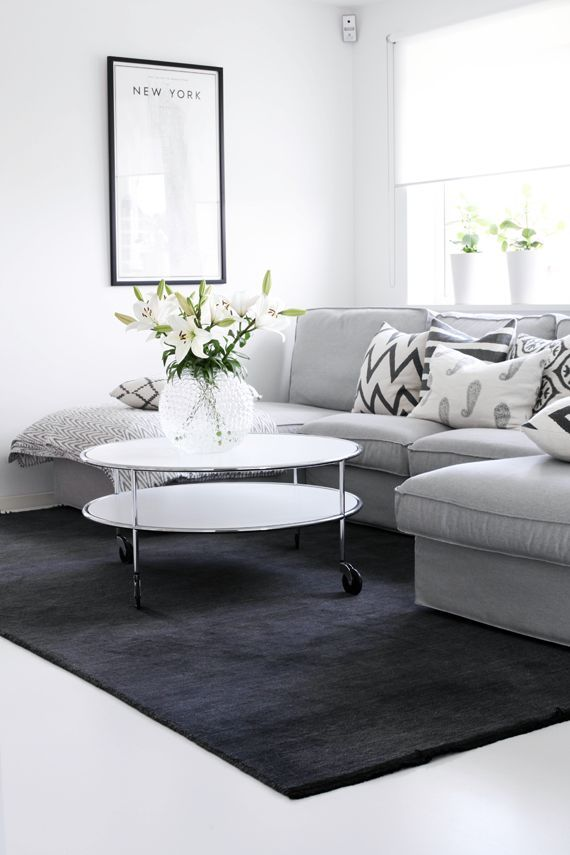 10 beautiful grey and white living rooms for Eveline interieur